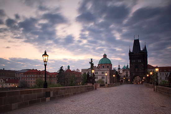 Karlův most při východ slunce