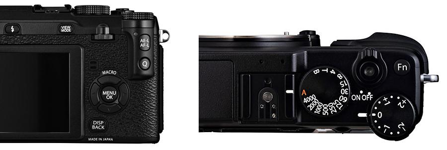 Ovládání na Fujifilm X-E1