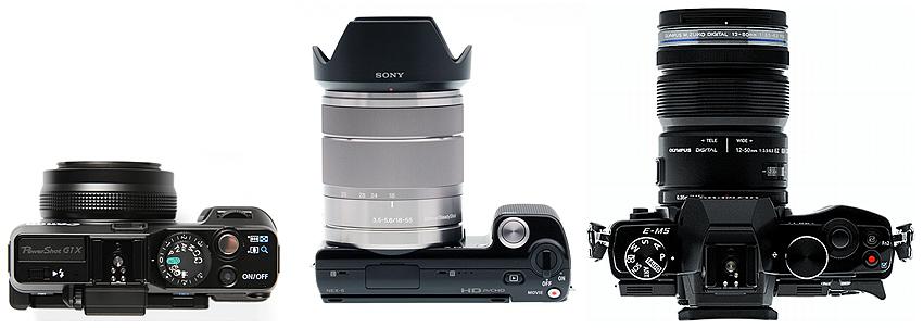Canon G1 X vs. Sony NEX-5 Olympus OM-5