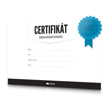 certifikát fotografického obrazu