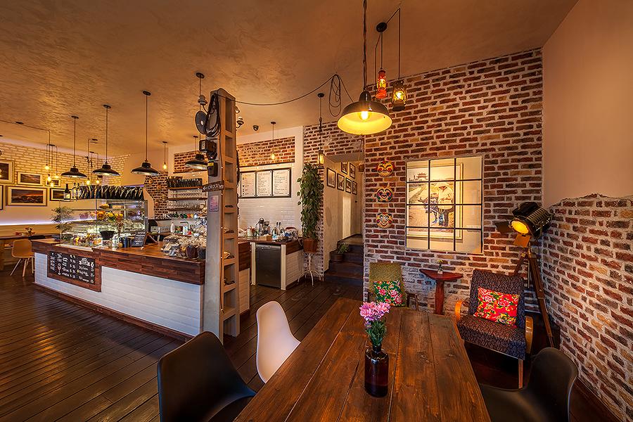 Interiér kavárny Cafefin