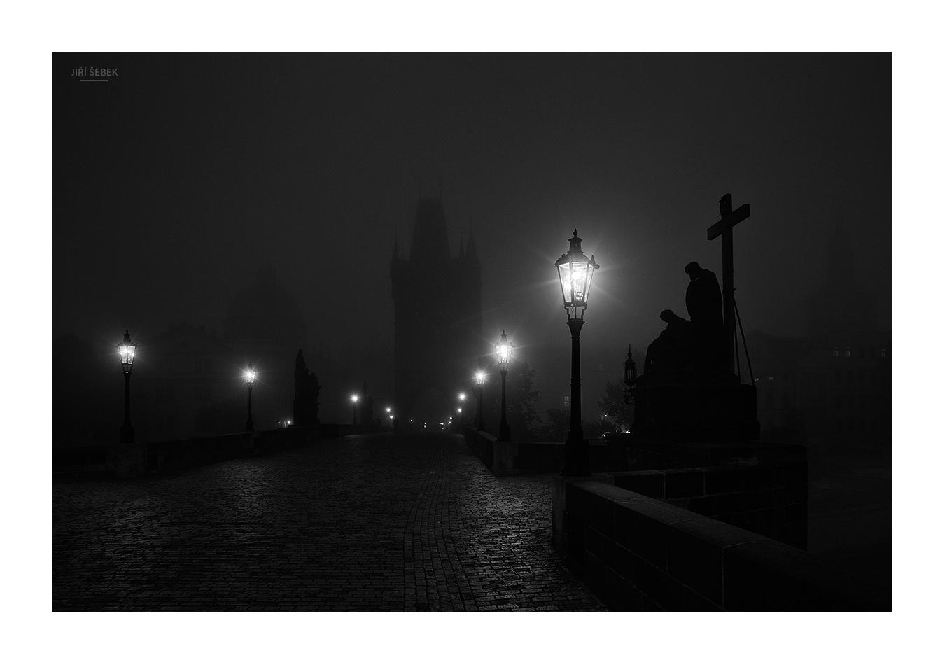 fotografie Noční Karlův most 3