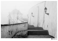 fotografie Staré zámecké schody