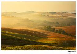 fotografie toskánské ráno