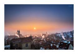 fotografie Východ slunce nad Malou Stranou