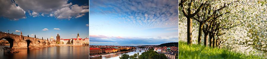 fotky jarní Prahy