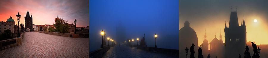 Karlův most při východu slunce